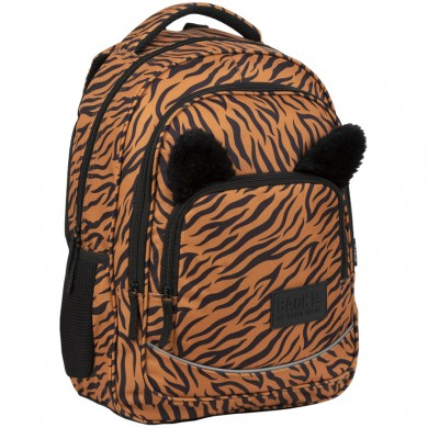 Раница с пухкави ушички BackUp - Tiger